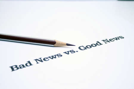 Bad news versus good news Stock Photo - 12983980