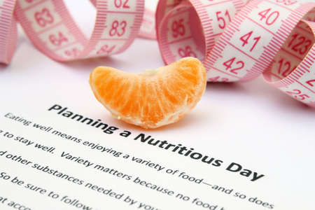 Planning a nutritious day Stock Photo - 13295871