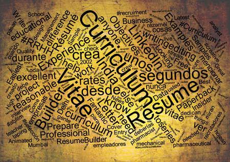 curriculum: Curriculum vitae word cloud