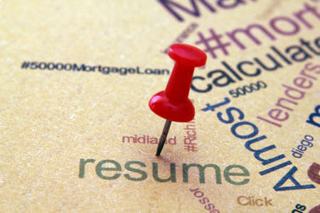 Resume Stock Photo - 13454624