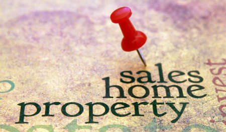 repossessed: Sales home property Stock Photo
