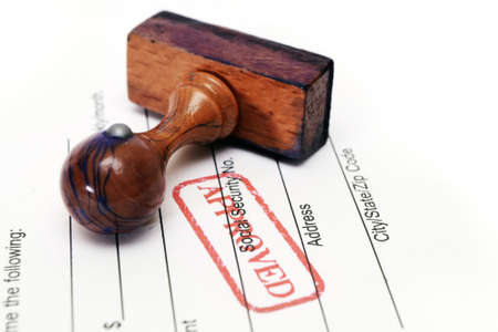 Stamp approved Stock Photo - 13576506