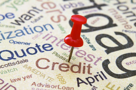 business credit application: Credit concept Stock Photo