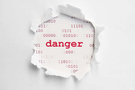 internet attack: Danger concept Stock Photo