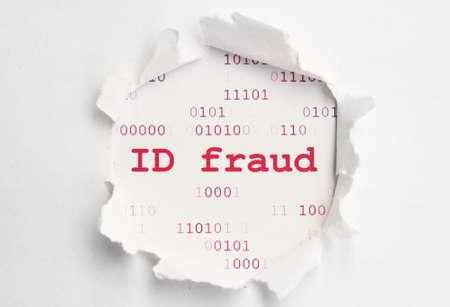 identity thieves: Identificaci�n de fraude Foto de archivo