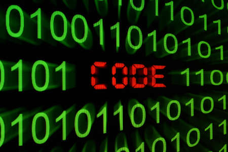 Program code on a monitor Stock Photo - 13773393