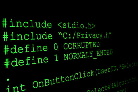 Program code on a monitor Stock Photo - 13773346
