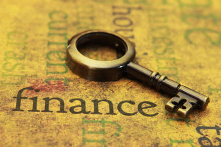 Finance and old key photo
