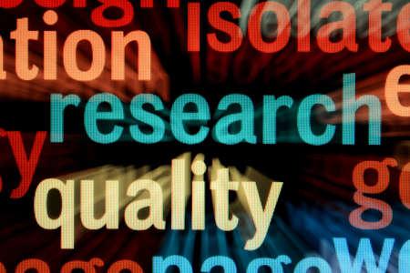 searh: Research - monitor screen