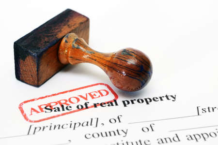 Sale of property form Stock Photo
