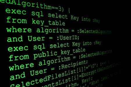 operand: Program code on a monitor