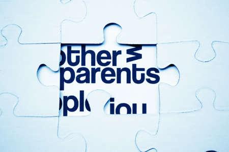 Parents puzzle photo