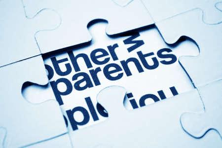 Parrents puzzle photo