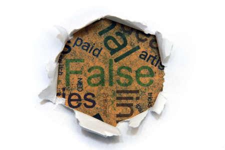 False photo