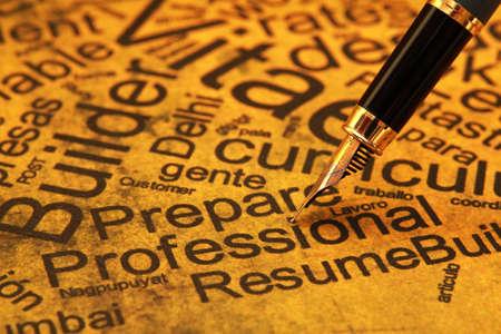 Resume concept Stock Photo - 14068906