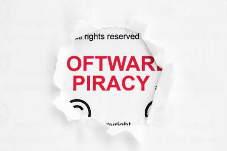 Web piracy concept Stock Photo - 14229353