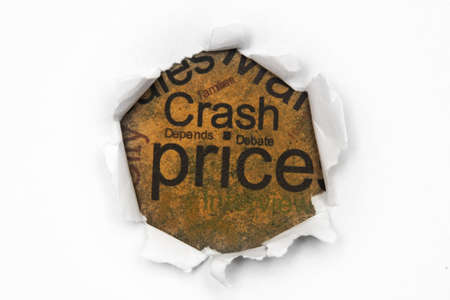 Crash price concept photo