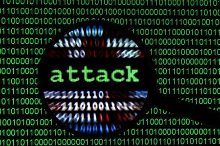 virus informatico: Atacar Foto de archivo
