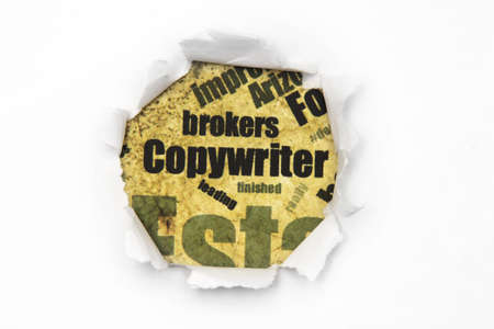 Copywriter paper hole Stock Photo - 14650122