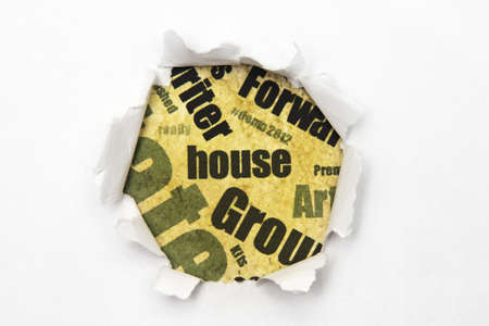 House paper hole photo