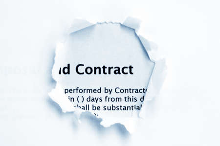 Contract paper hole photo