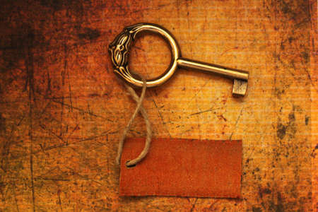 Old key and tag photo