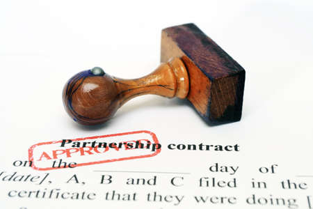 Partnership contract Stock Photo - 14916916