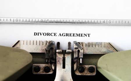 Divorce agreement photo