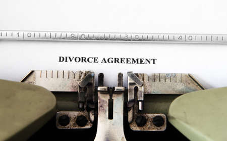 divorce court: Divorce agreement Stock Photo