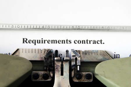 Requirement contract photo
