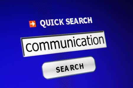 Communication search Stock Photo - 15096870