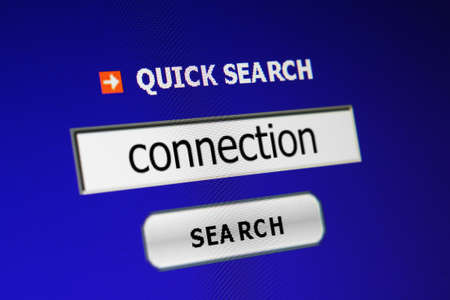 Connection search Stock Photo - 15096875