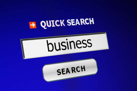 backlink: Search business Stock Photo