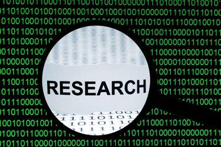 searh: Web research Stock Photo