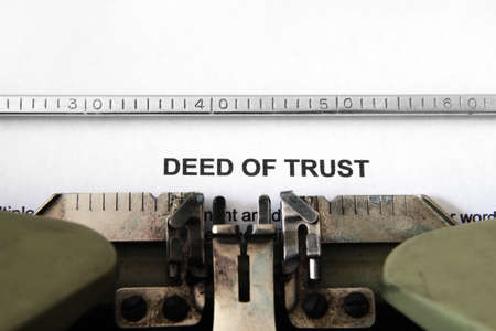deeds: Deed of trust Stock Photo