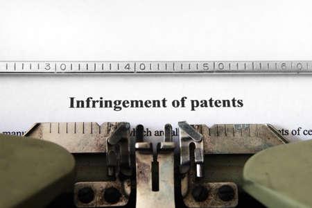 infringement: Infringement of patents Stock Photo