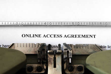 Online access agreement Stock Photo - 15473532