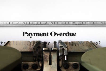 overdue: Payment overdue form Stock Photo