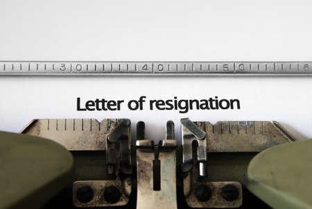 resignation: Letter of resignation