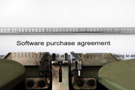 strictly: Software purchase agreement Stock Photo