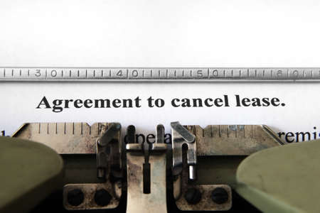 contracting: Agreement to cancel lease