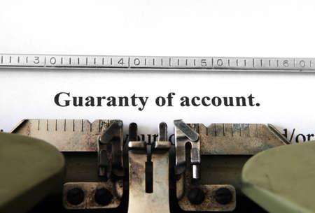 Guaranty of account Stock Photo - 15604536