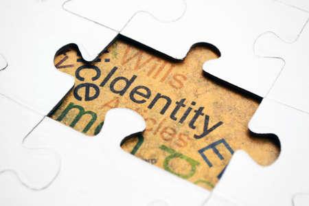 Identity puzzle concept Stock Photo - 15604531