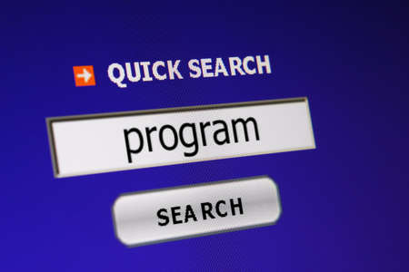 Search for program Stock Photo - 15627846