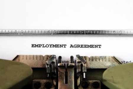 Employment agreement photo