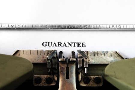 guaranty: Guaranty  form Stock Photo