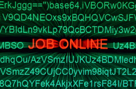 Job online Stock Photo - 16117210