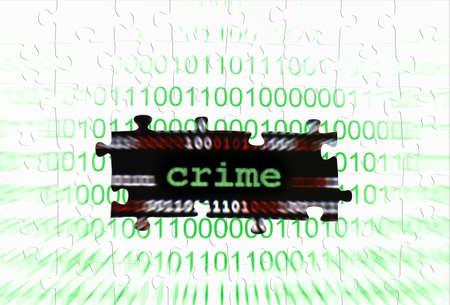 Crime puzzle concept photo