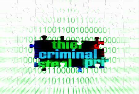 Criminal puzzle concept Stock Photo