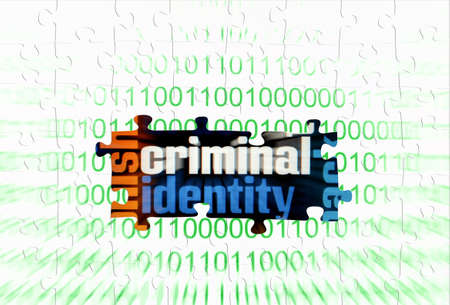 Criminal puzzle concept Stock Photo - 16243854